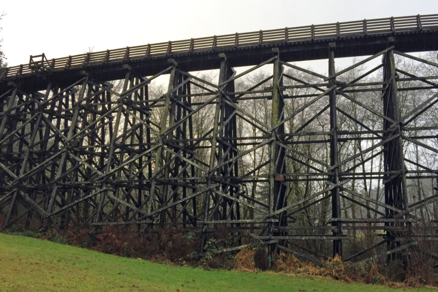 Trestle at beginning of hike