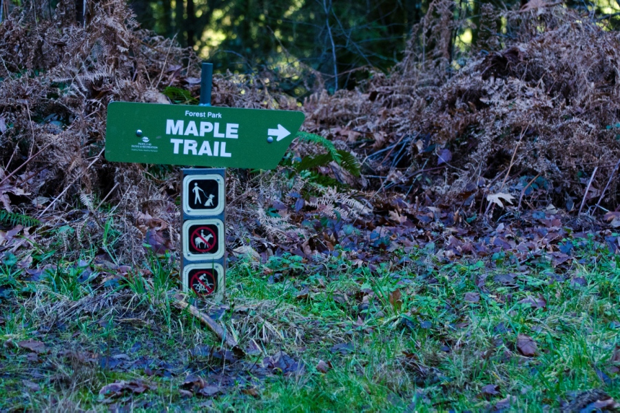 The trails are well marked