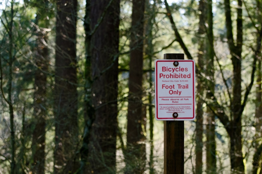 The trail is for hikers