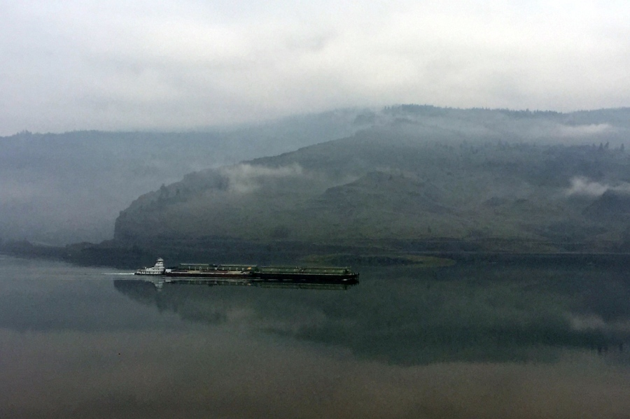 Barge on the Columbia River