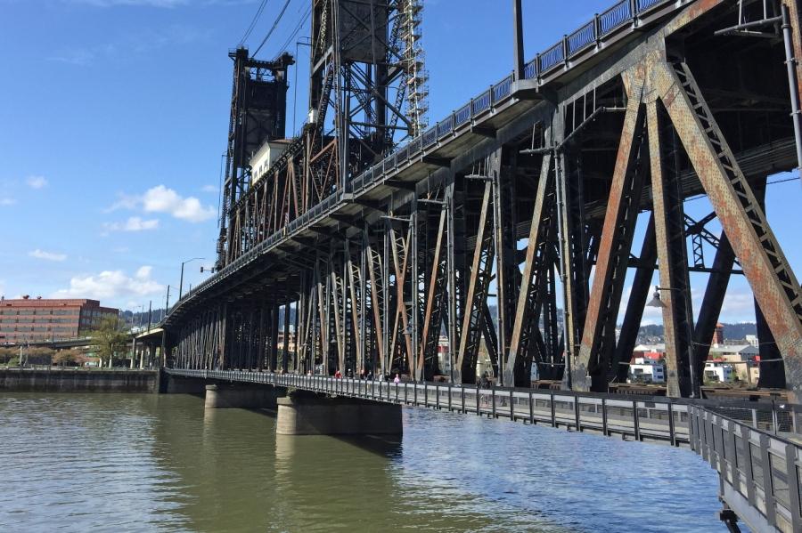 Footpath underneath the Steel Bridge