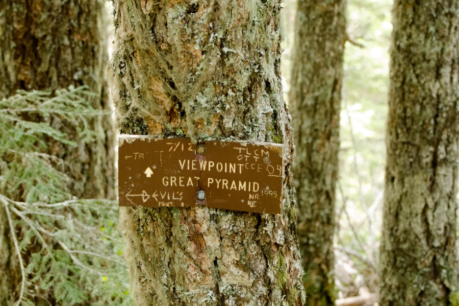 An old trail sign