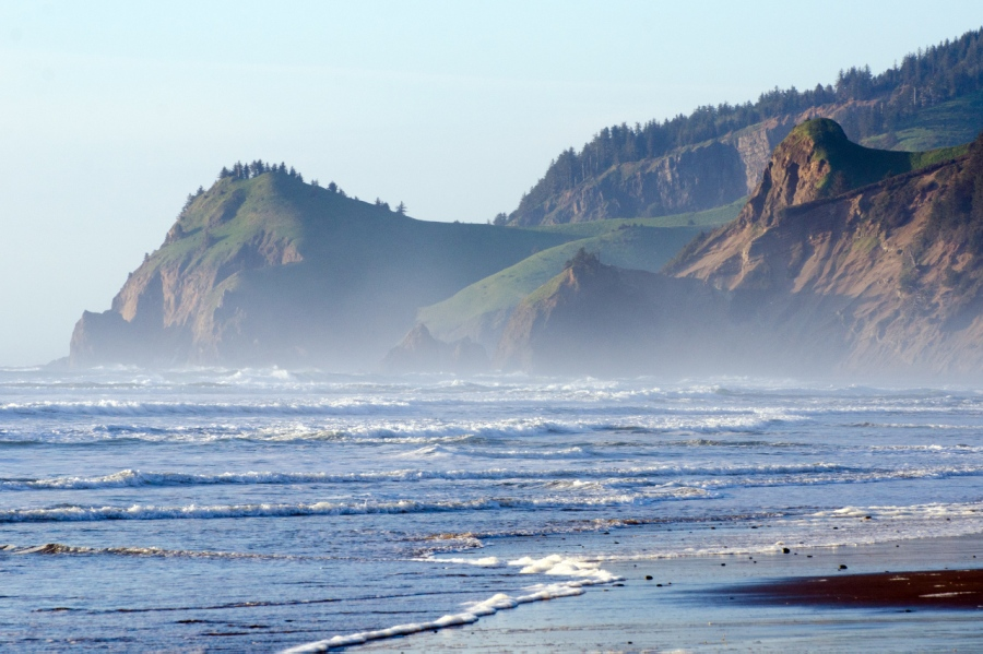 North end of beach at Lincoln City