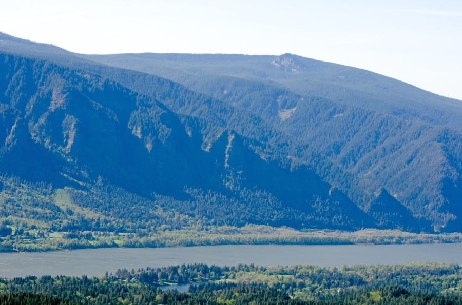 A view across the Columbia River to Larch Mountain