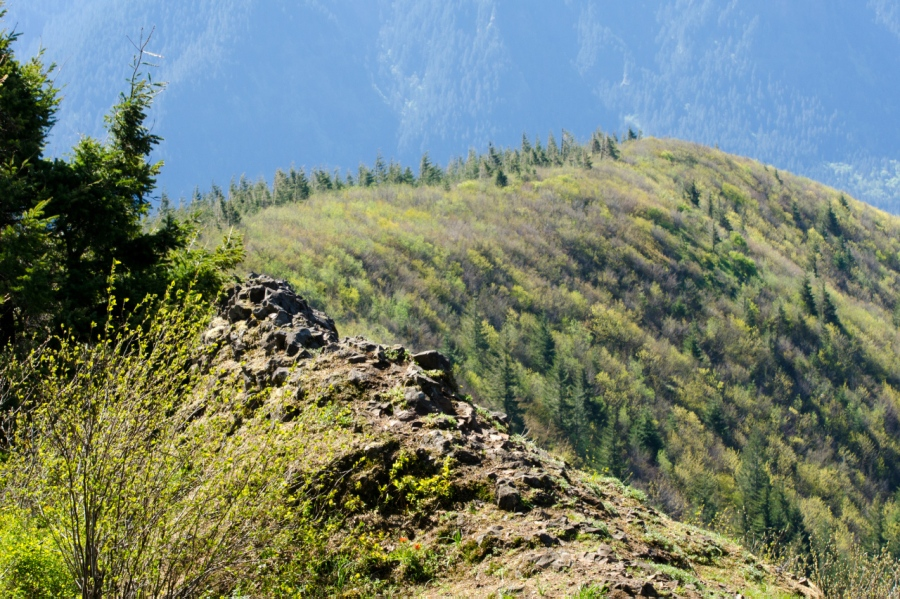 Looking down Hardy Ridge