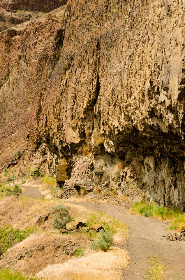 Trail cut into the cliffs