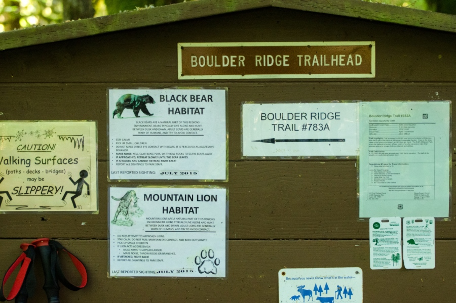Sign at the Trailhead (maybe this is the reason I saw no other hikers)
