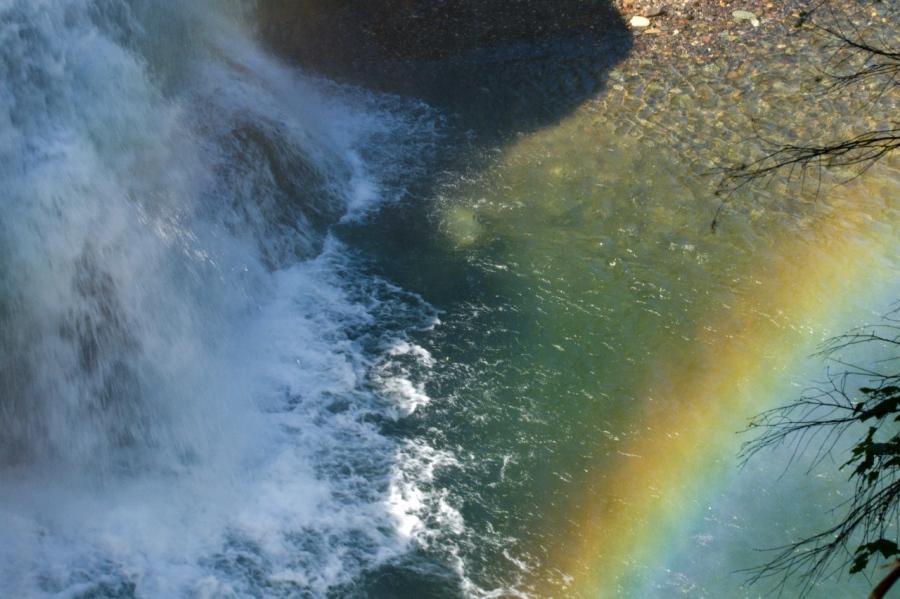 Rainbows and waterfalls, a good combo