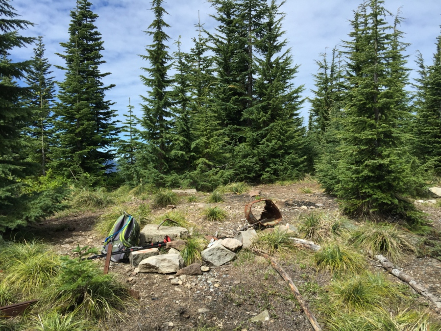 Summit of Fish Creek Mountain (remains of a long-removed fire lookout)