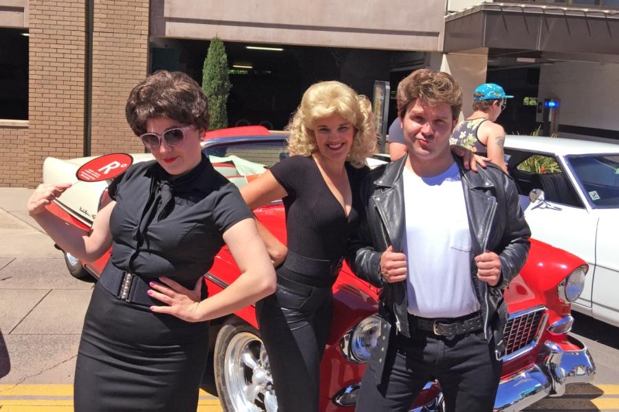 Marilyn, Olivia Newton John, John Travolta and VintageAutos