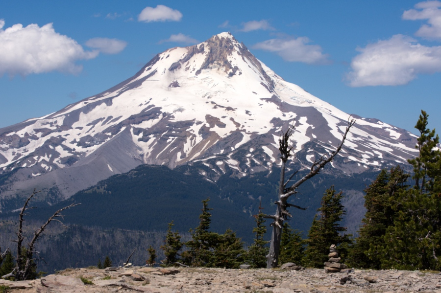 Mt. Hood from the summit of Lookout Mountain