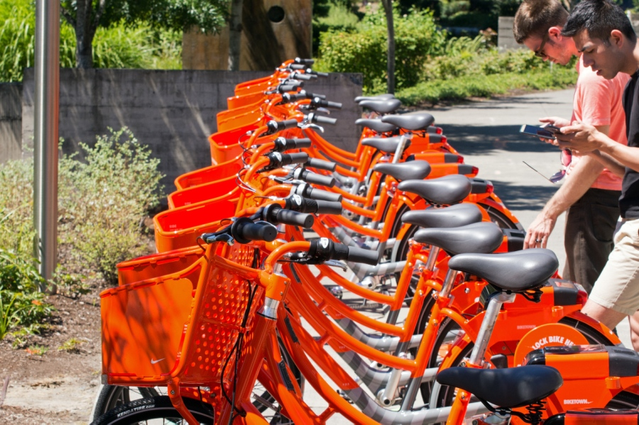 Portland Rideshare Bicycles (Any color you want as long as it's orange)