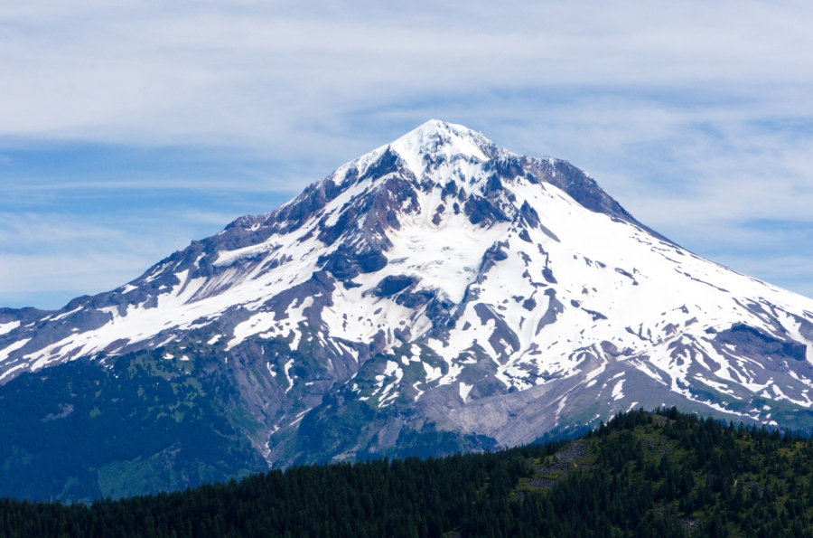 Mt. Hood behind East Zigzag Mountain
