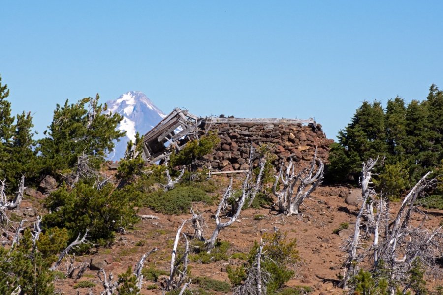 Mt. behind the old lookout cabin on Olallie Butte