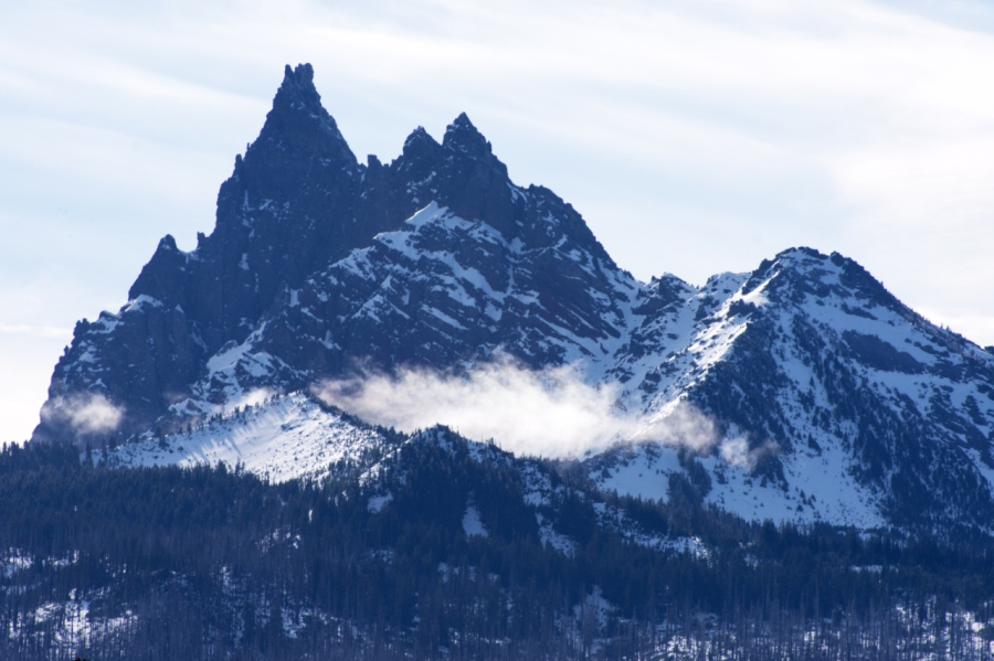 An early-morning storm on Three Fingered Jack