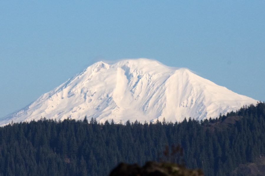 Fresh snow on Mt. Adams