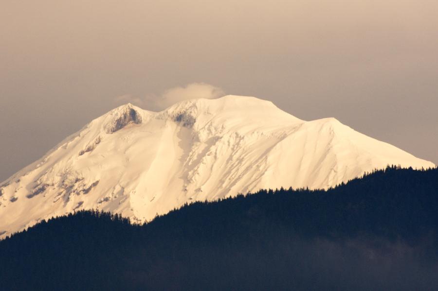 Fresh snow on Mt. Adams