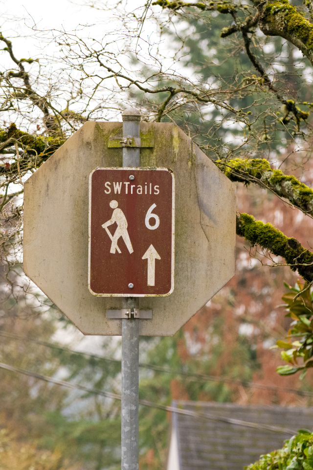 Southwest Portland has a series of marked trails that follow stairs, alleyways and nature trails