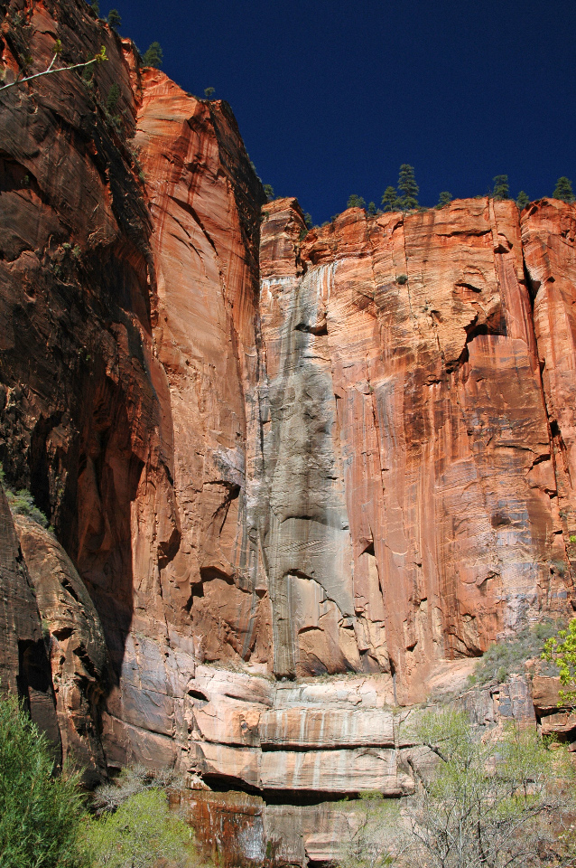Canyon walls rise 1,000 feet above the canyon floor