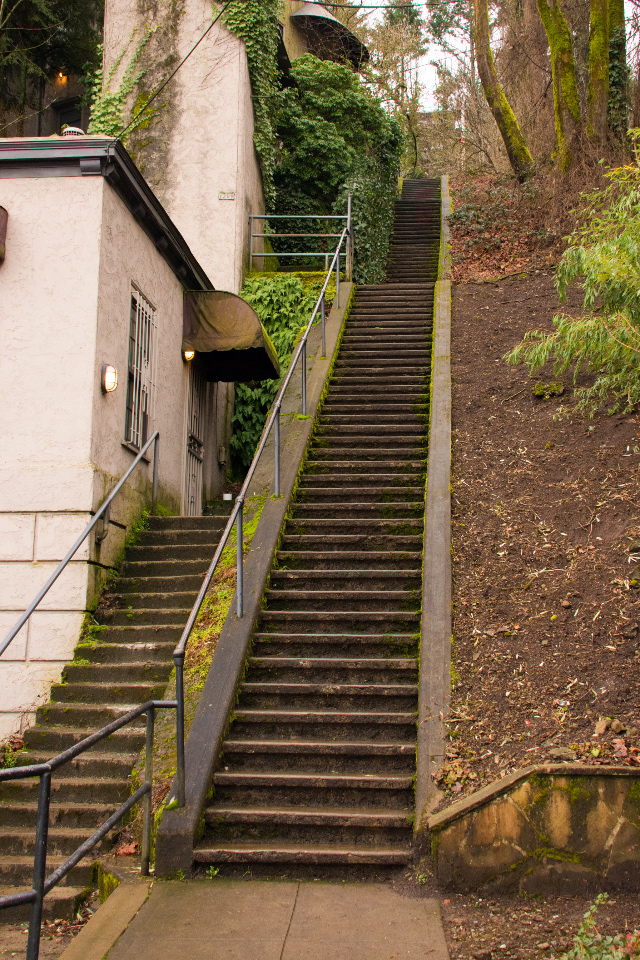 Public stairs in SW Portland