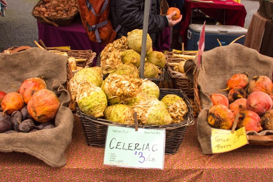 Celery roots at the Farmers' Market
