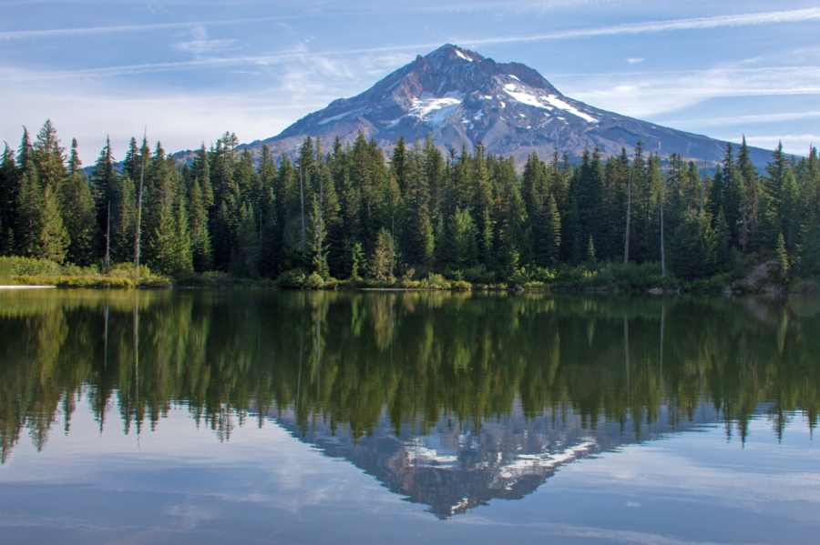 A Classic: Mt. Hood Reflected in Burnt Lake